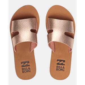 Billabong Rose gold sandals